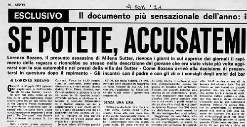 Grafologia e Tipi di Scrittura - il piano di sequestro scritto da Lorenzo Bozano - caso Milena Sutter -