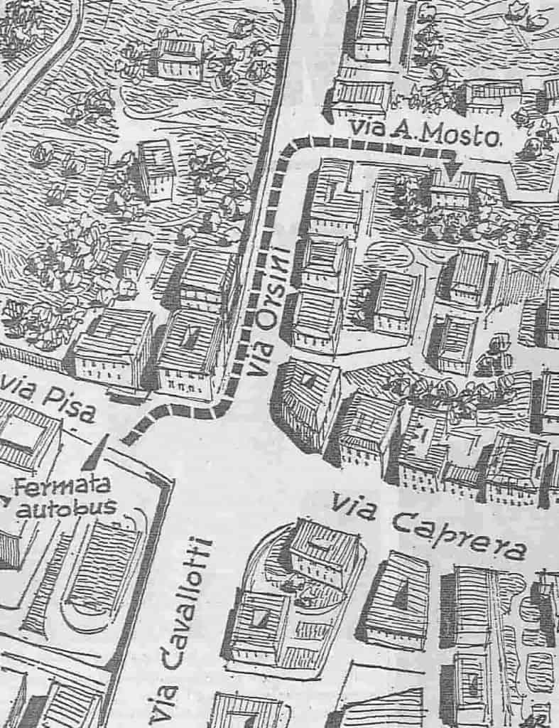 Genova - mappa via Orsini - Rapimento-Omicidio - Milena Sutter - magazine Il Biondino della Spider Rossa - ProsMedia - Agenzia Corte&Media