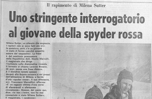 Rapimento Milena Sutter - Interrogatorio Lorenzo Bozano - IlBiondino.org